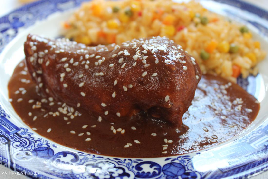 how to cook chicken mole