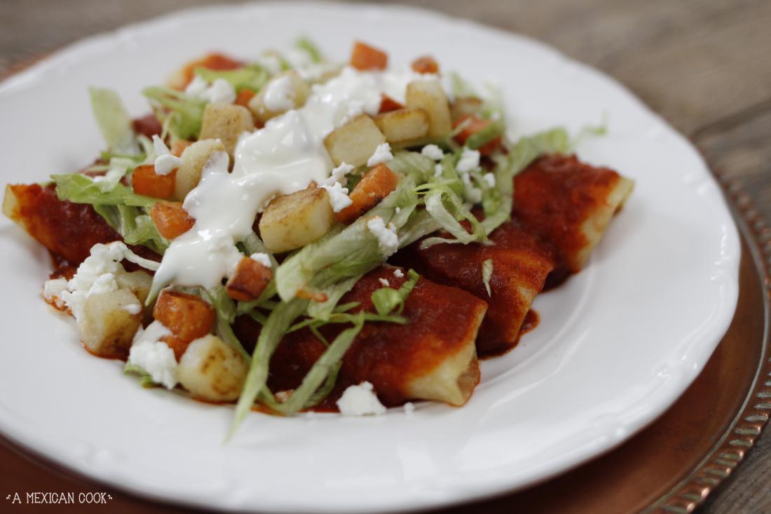 Enchiladas Rojas... | A Mexican Cook