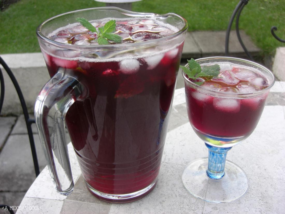 Rediscovering Photography On Summer >> Mexican Hibiscus Iced Tea...   A Mexican Cook